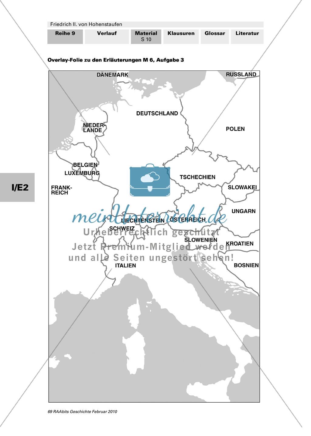Friedrich II. von Hohenstaufen: Lebensstationen Friedrichs in Stationen erarbeiten Preview 5