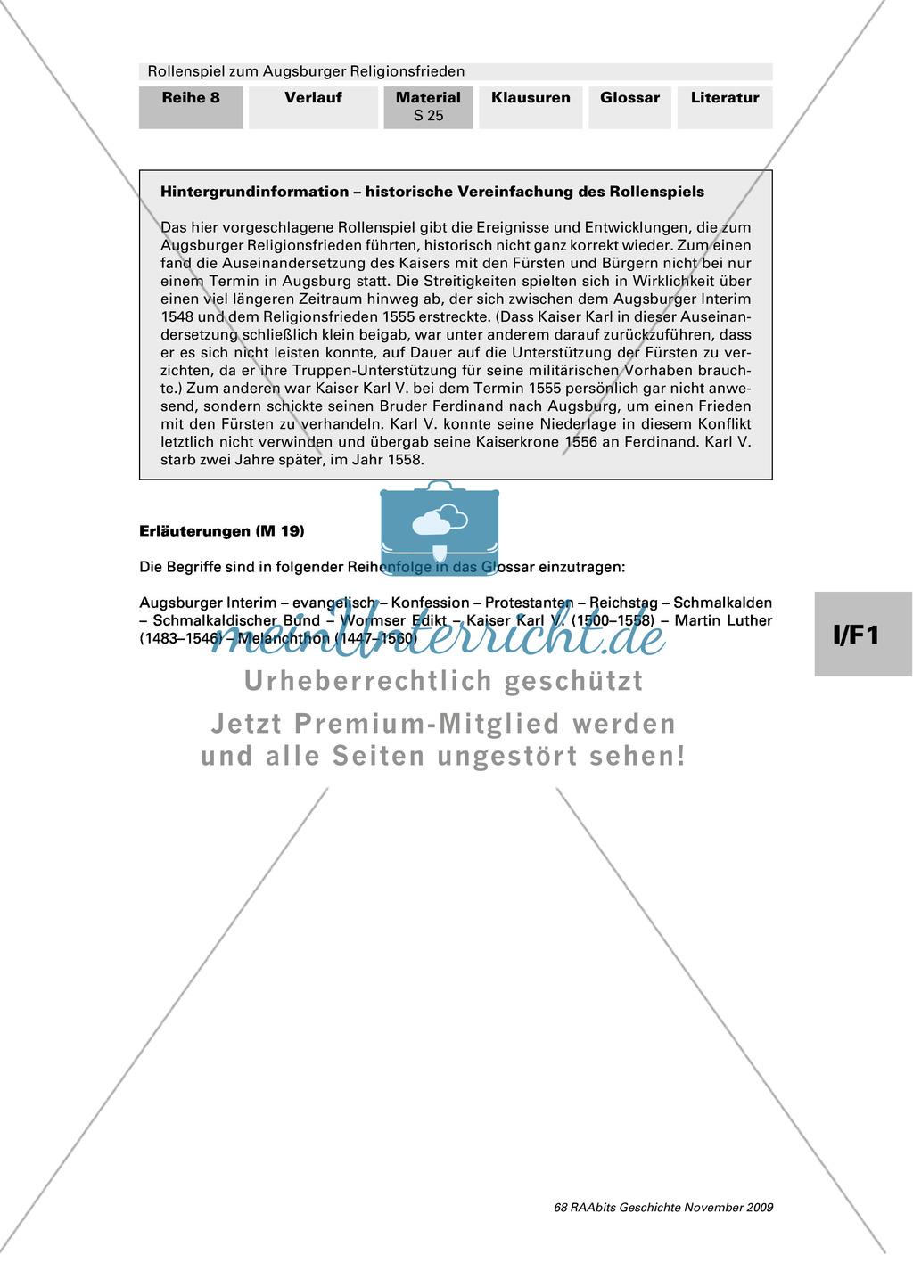 Reformation 1555: Ein Rollenspiel zum Augsburger Religionsfrieden mit Bildquelle Preview 11