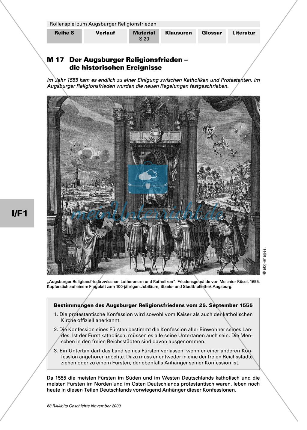 Reformation 1555: Ein Rollenspiel zum Augsburger Religionsfrieden mit Bildquelle Preview 7