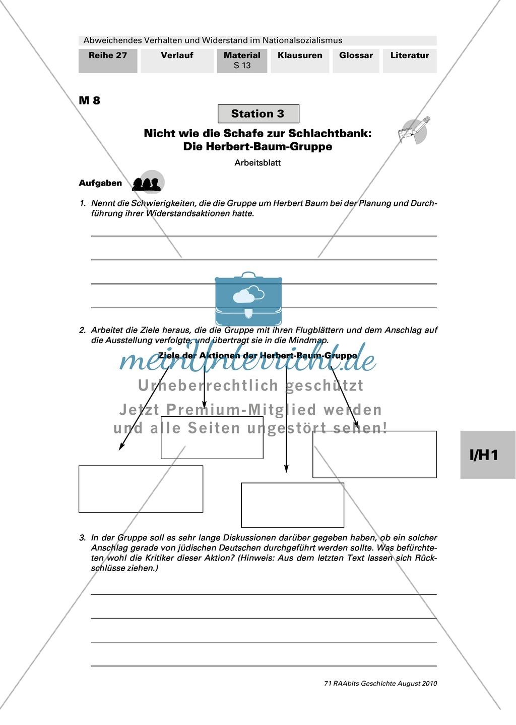 Abweichendes Verhalten und Widerstand im Nationalsozialismus: Die Herbert-Baum-Gruppe Preview 2