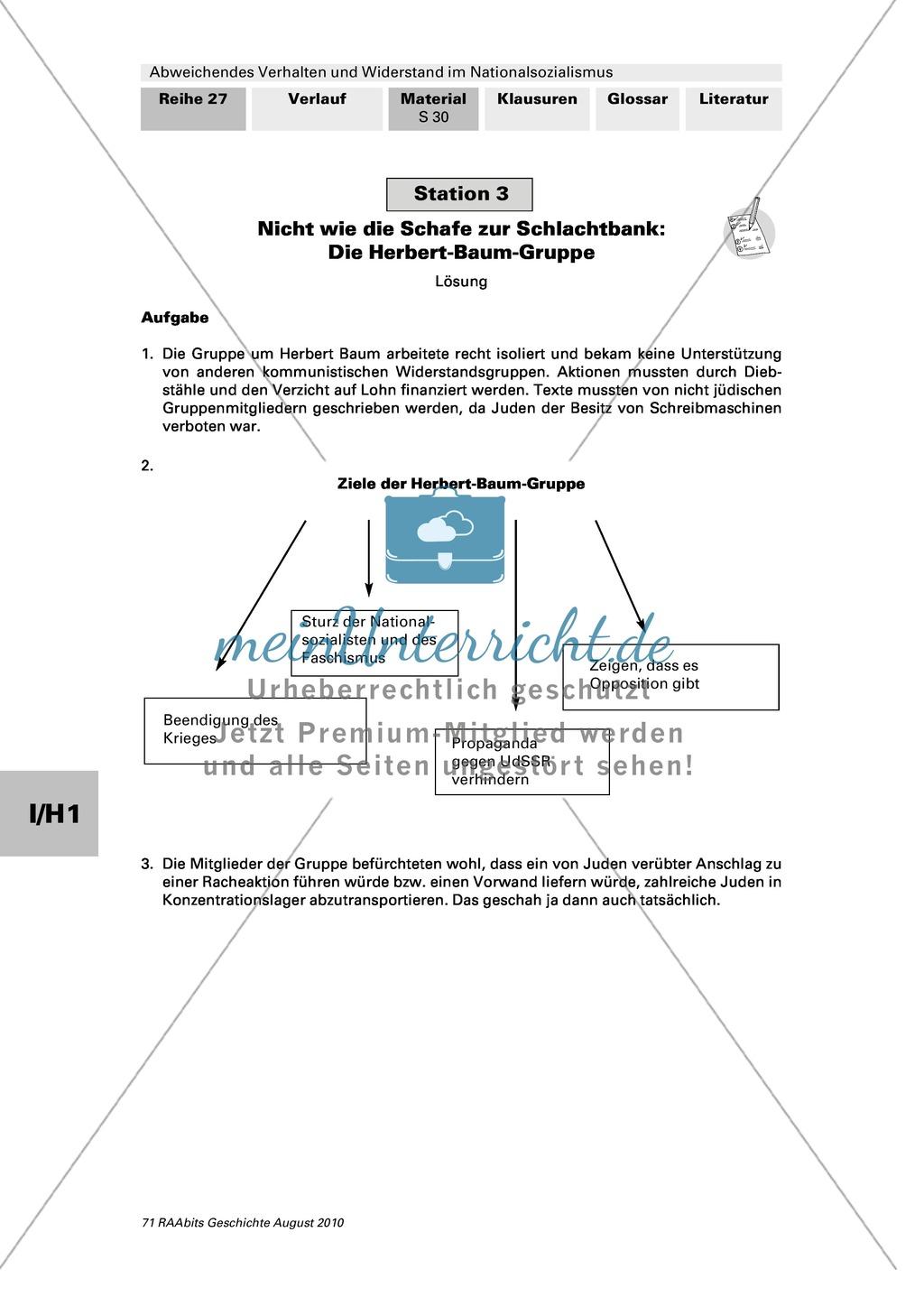 Abweichendes Verhalten und Widerstand im Nationalsozialismus: Die Herbert-Baum-Gruppe Preview 4
