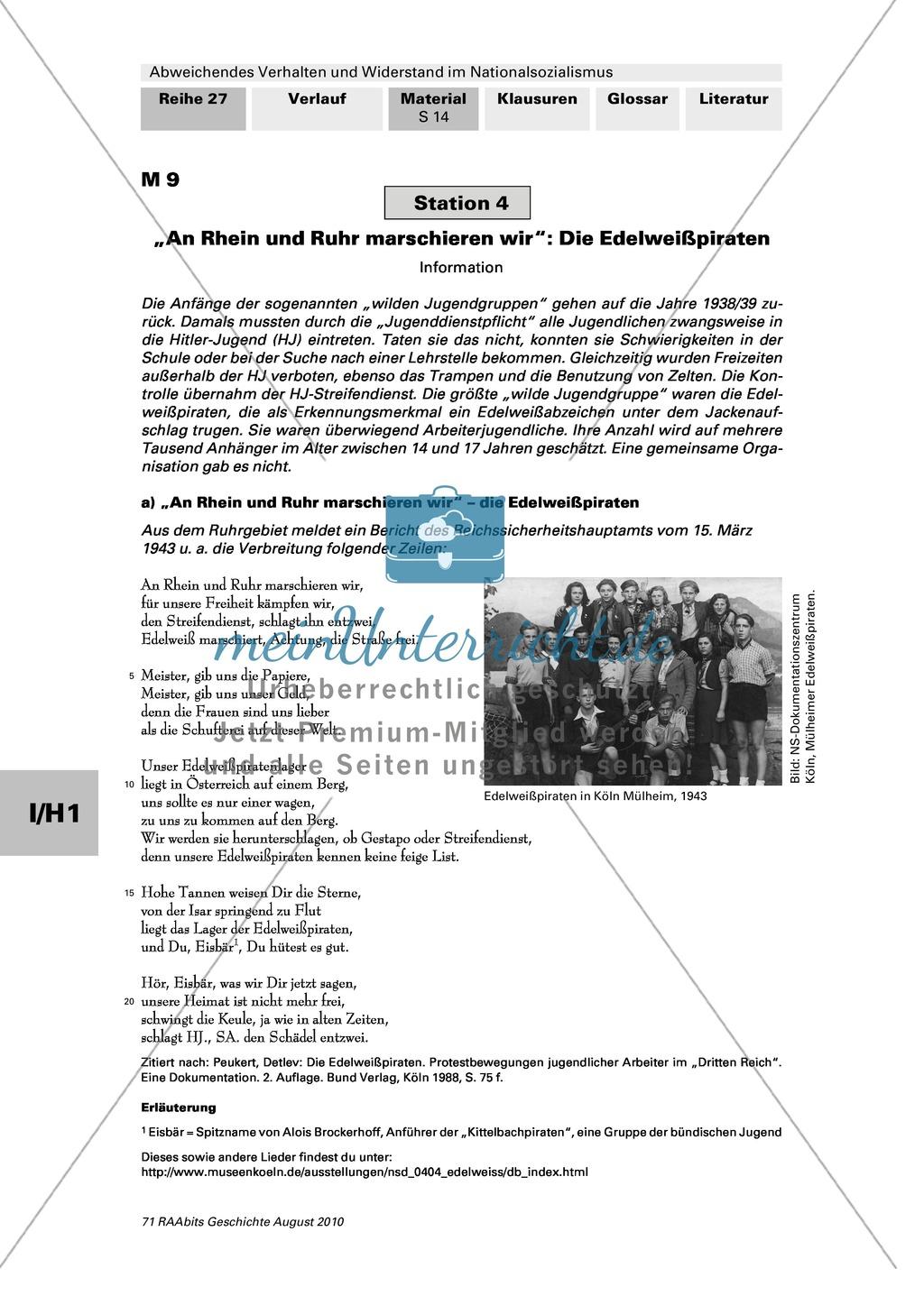 Abweichendes Verhalten und Widerstand im Nationalsozialismus: Die Edelweißpiraten Preview 1