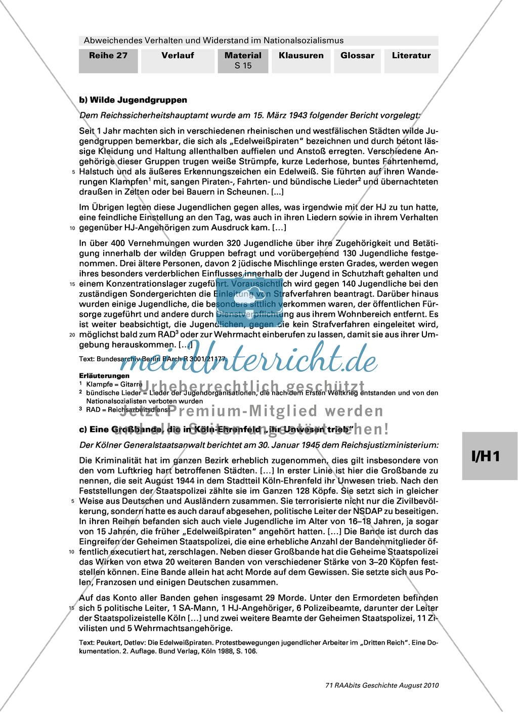 Abweichendes Verhalten und Widerstand im Nationalsozialismus: Die Edelweißpiraten Preview 2