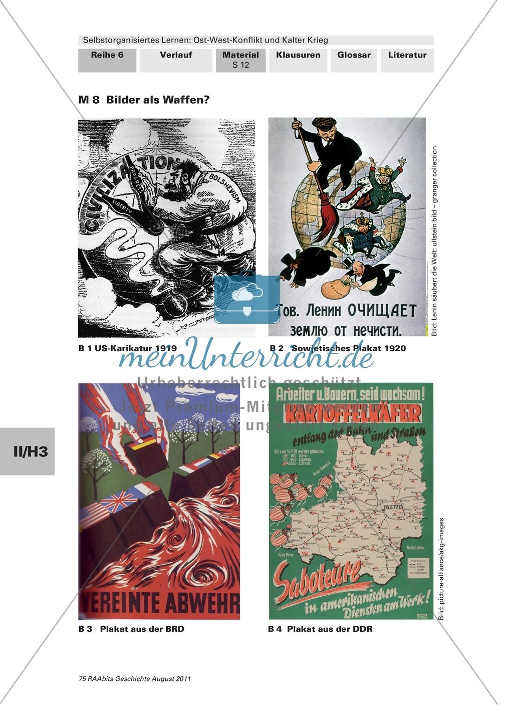 Selbstorganisiertes Lernen: Ost-West-Konflikt und Kalter Krieg: Die Entstehung einer bipolaren Weltsicht + Gruppenpuzzle Preview 1