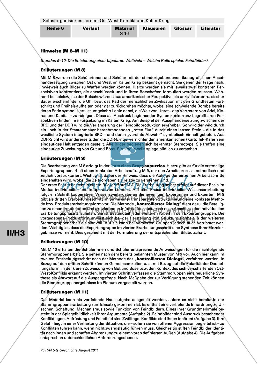 Selbstorganisiertes Lernen: Ost-West-Konflikt und Kalter Krieg: Die Entstehung einer bipolaren Weltsicht + Gruppenpuzzle Preview 5