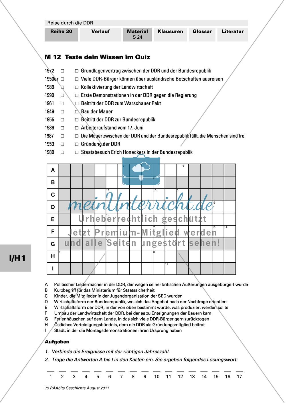 Lebensbedingungen in der DDR Preview 0