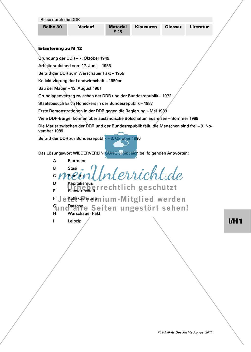 Lebensbedingungen in der DDR Preview 1