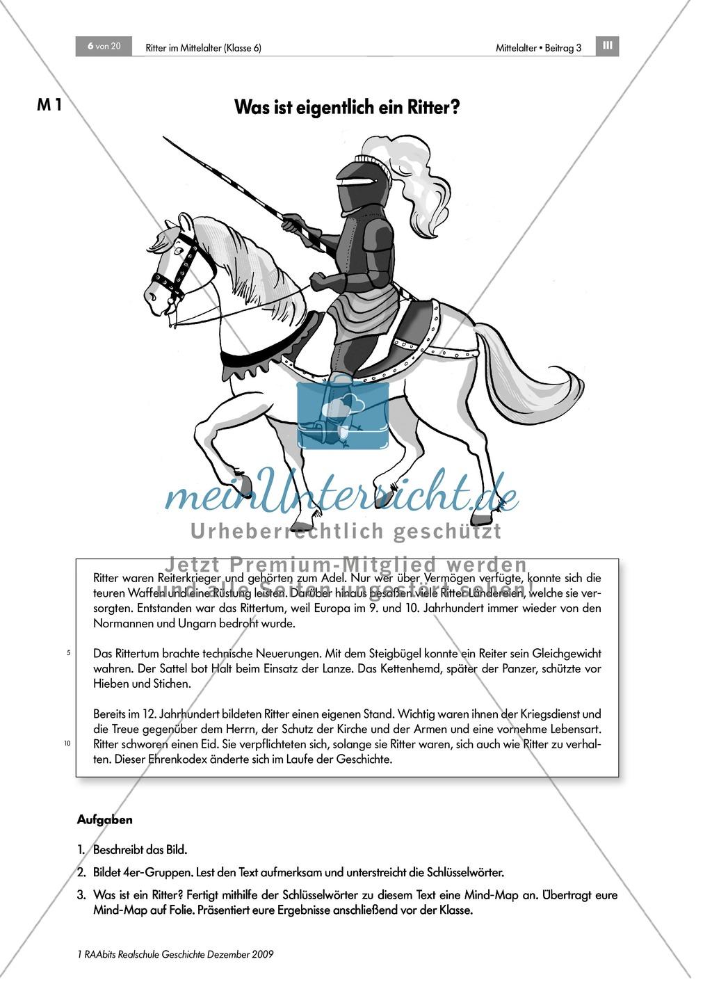 Das Leben der Ritter im Mittelalter: Unterrichtseinheit zur Ausrüstung und zum Aussehen eines Ritters Preview 0