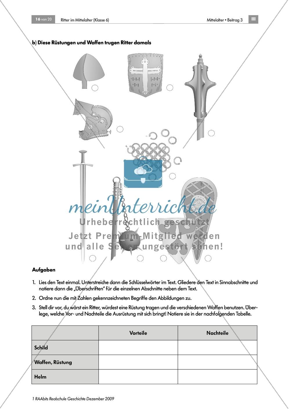 Das Leben der Ritter im Mittelalter: Unterrichtseinheit zur Ausrüstung und zum Aussehen eines Ritters Preview 3