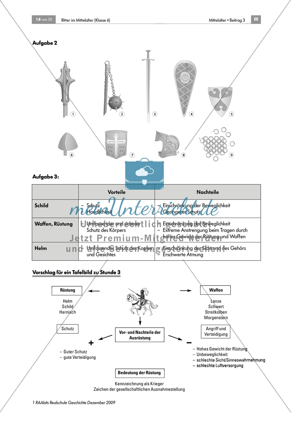 Das Leben der Ritter im Mittelalter: Unterrichtseinheit zur Ausrüstung und zum Aussehen eines Ritters Preview 5