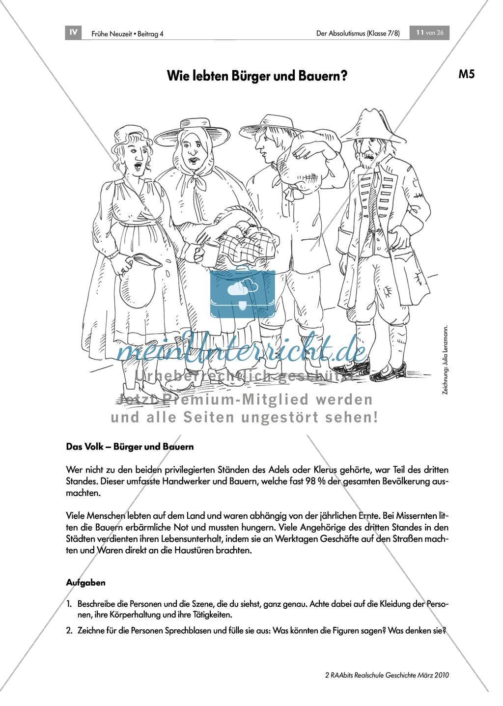 Der Absolutismus: Die französische Ständegesellschaft Preview 4
