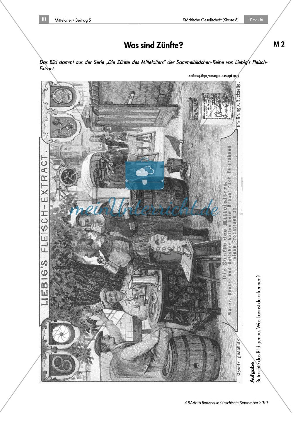Von Zünften und Stadtherren - gesellschaftliche Strukturen in der mittelalterlichen Stadt Preview 1