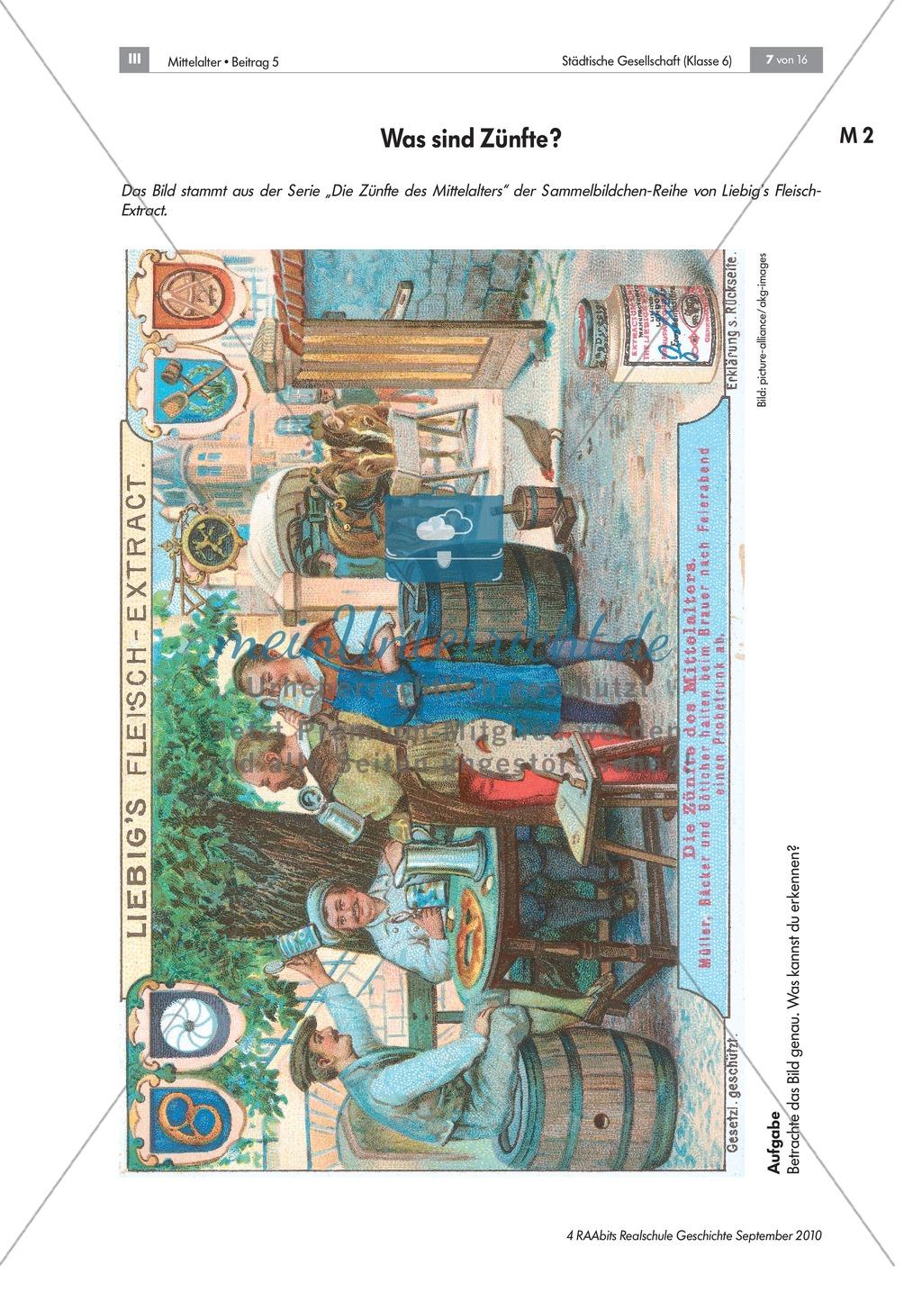 Von Zünften und Stadtherren - gesellschaftliche Strukturen in der mittelalterlichen Stadt Preview 2