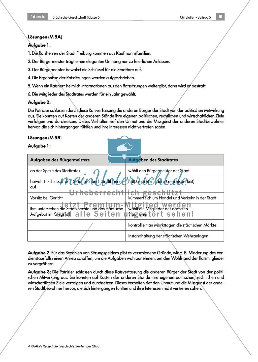 Von Zünften und Stadtherren - gesellschaftliche Strukturen in der mittelalterlichen Stadt: Rolle und Aufgaben des Bürgermeisters und des Stadtrates Preview 4