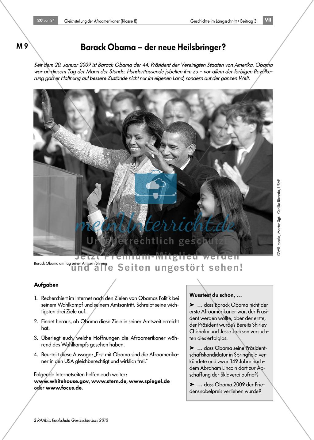 Die Segregation und die Gleichstellung der Afroamerikaner in den USA Preview 4