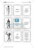 Rätselsammlung Ägypten: Im Götter-Tritett Namen, Attribute und Funktion der ägypt. Götter benennen Preview 4