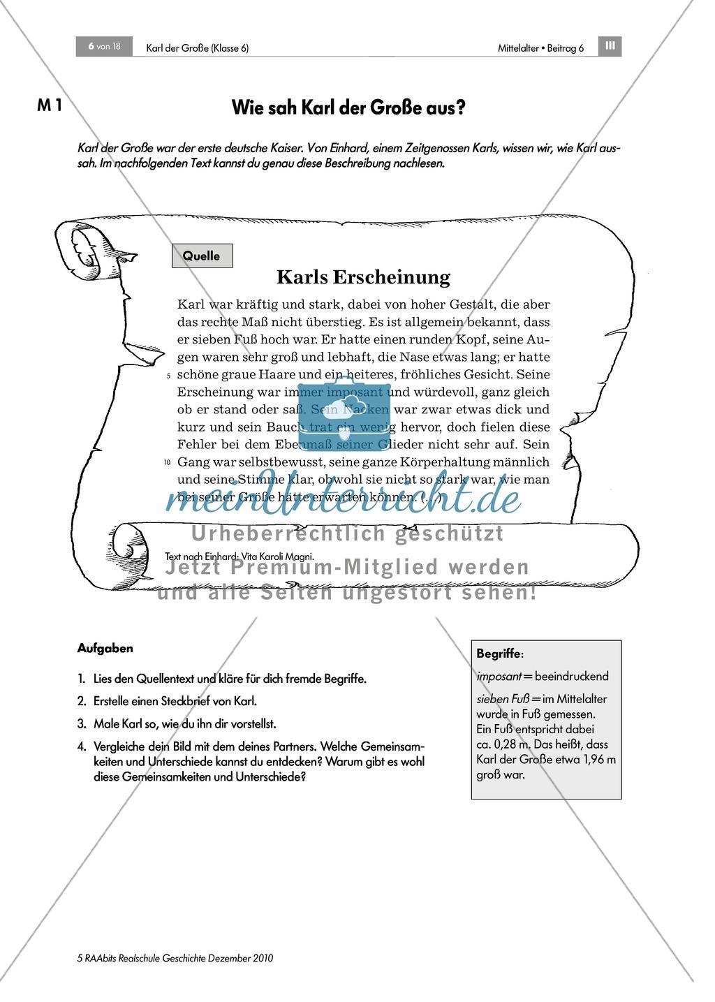 Karl der Große_ Die Person Karl der Große anhand einer Quelle ...