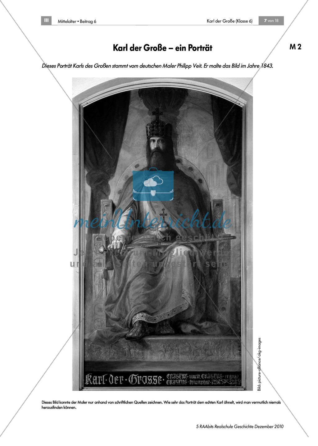Karl der Große_ Die Person Karl der Große anhand einer Quelle (Einhard) kennenlernen Preview 1
