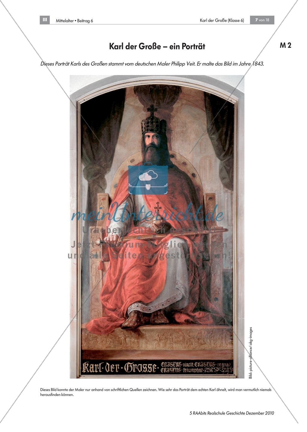 Karl der Große_ Die Person Karl der Große anhand einer Quelle (Einhard) kennenlernen Preview 2