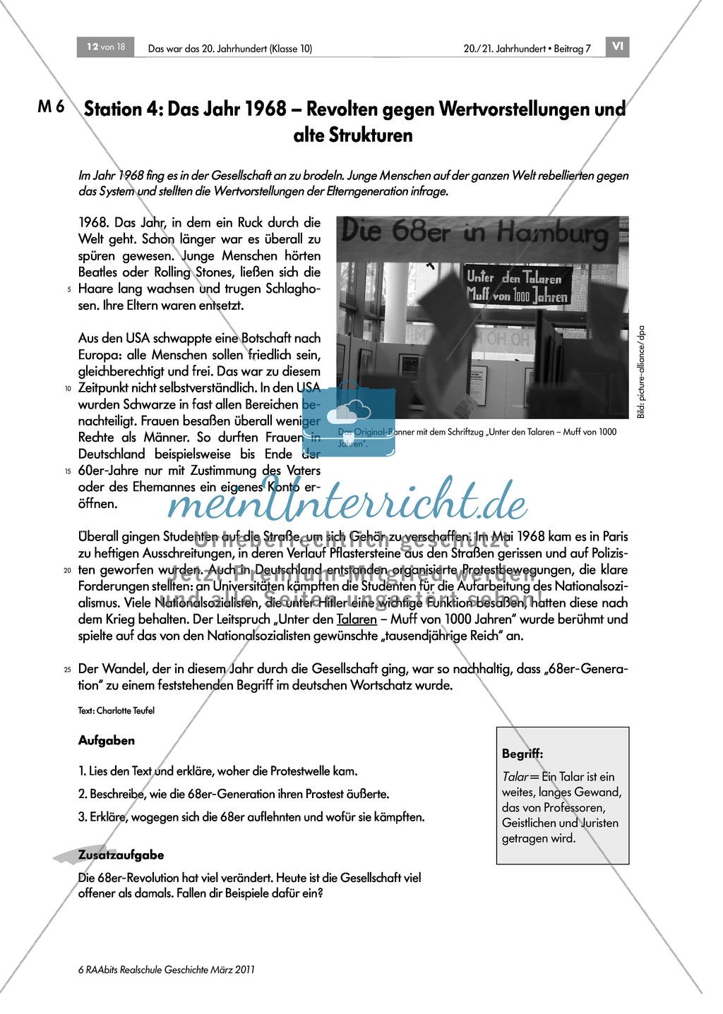 Die Geschichte Deutschlands im 20. Jahrhundert: Lerntheke zum Thema Preview 4