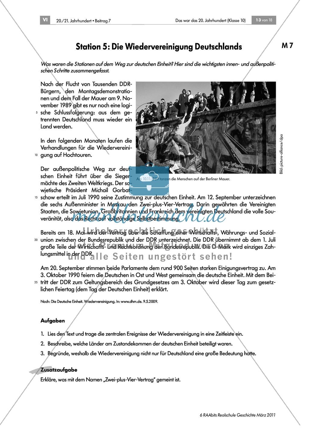 Die Geschichte Deutschlands im 20. Jahrhundert: Lerntheke zum Thema Preview 5