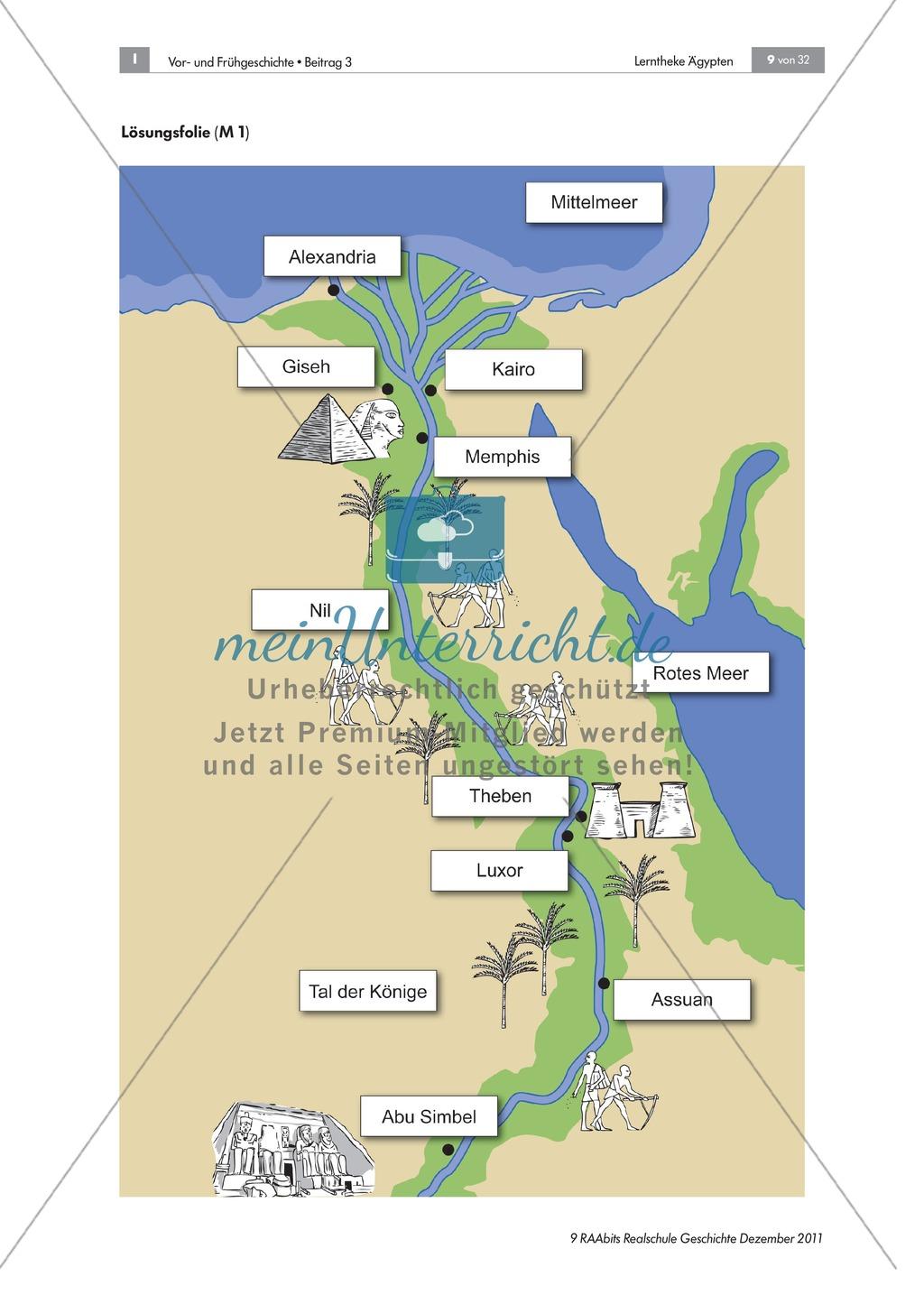 Lückentexte: Die Ägypter leben am Nil + didaktische Hinweise Preview 3