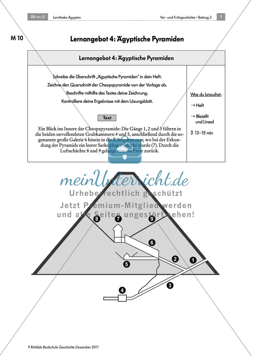 Ägyptische Pyramiden: Aufbau und Beschriftung des Querschnitts + didaktische Hinweise Preview 0