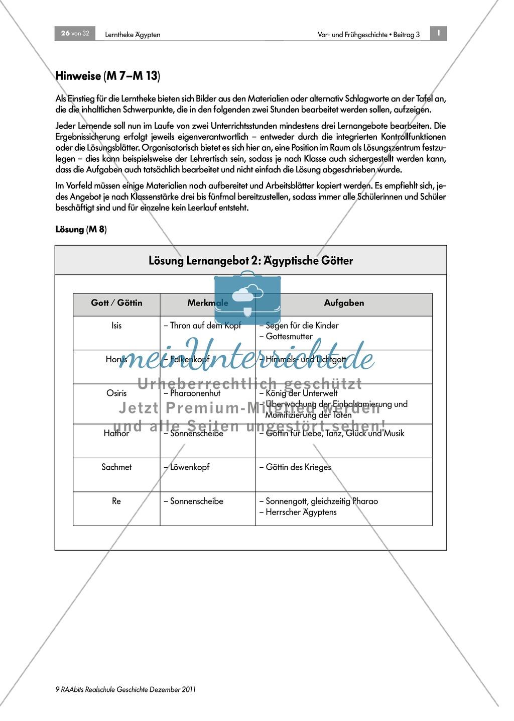 Ägyptische Mathematik: Zahlen und Aufgaben + didaktische Hinweise Preview 1