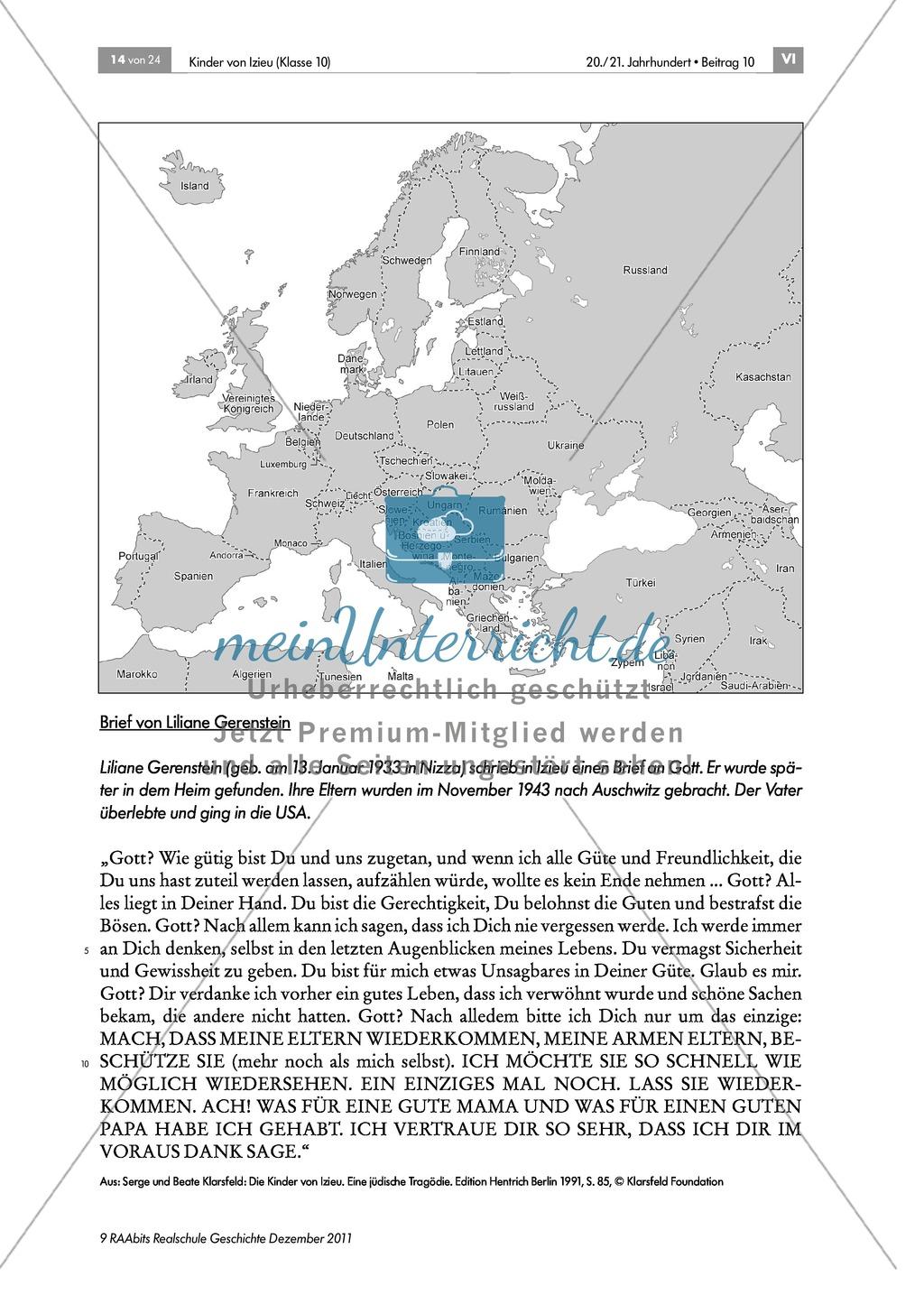 Stationenlernen zum Widerstand und Verfolgung während des Zweiten Weltkriegs in Frankreich am Beispiel des Kinderheim in Izieu Preview 7