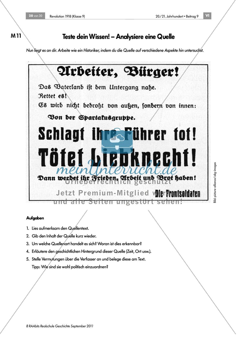 Quellen, Plakate, Flugblätter zum Spartakusbund und zur KPD in der Weimarer Republik mit Aufgaben Preview 10