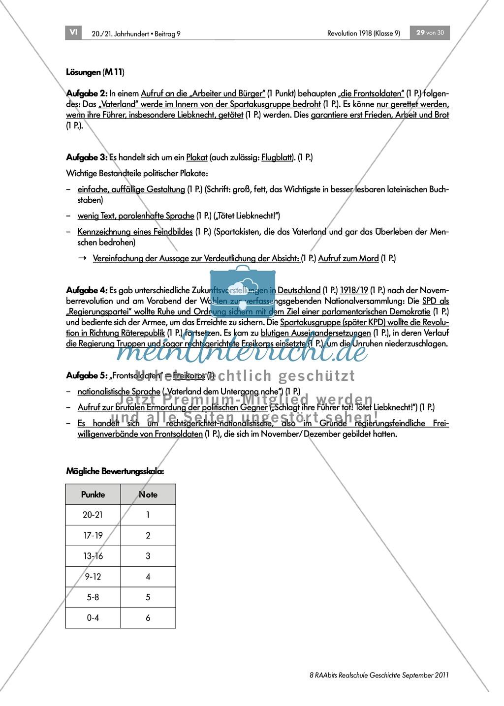 Quellen, Plakate, Flugblätter zum Spartakusbund und zur KPD in der Weimarer Republik mit Aufgaben Preview 11