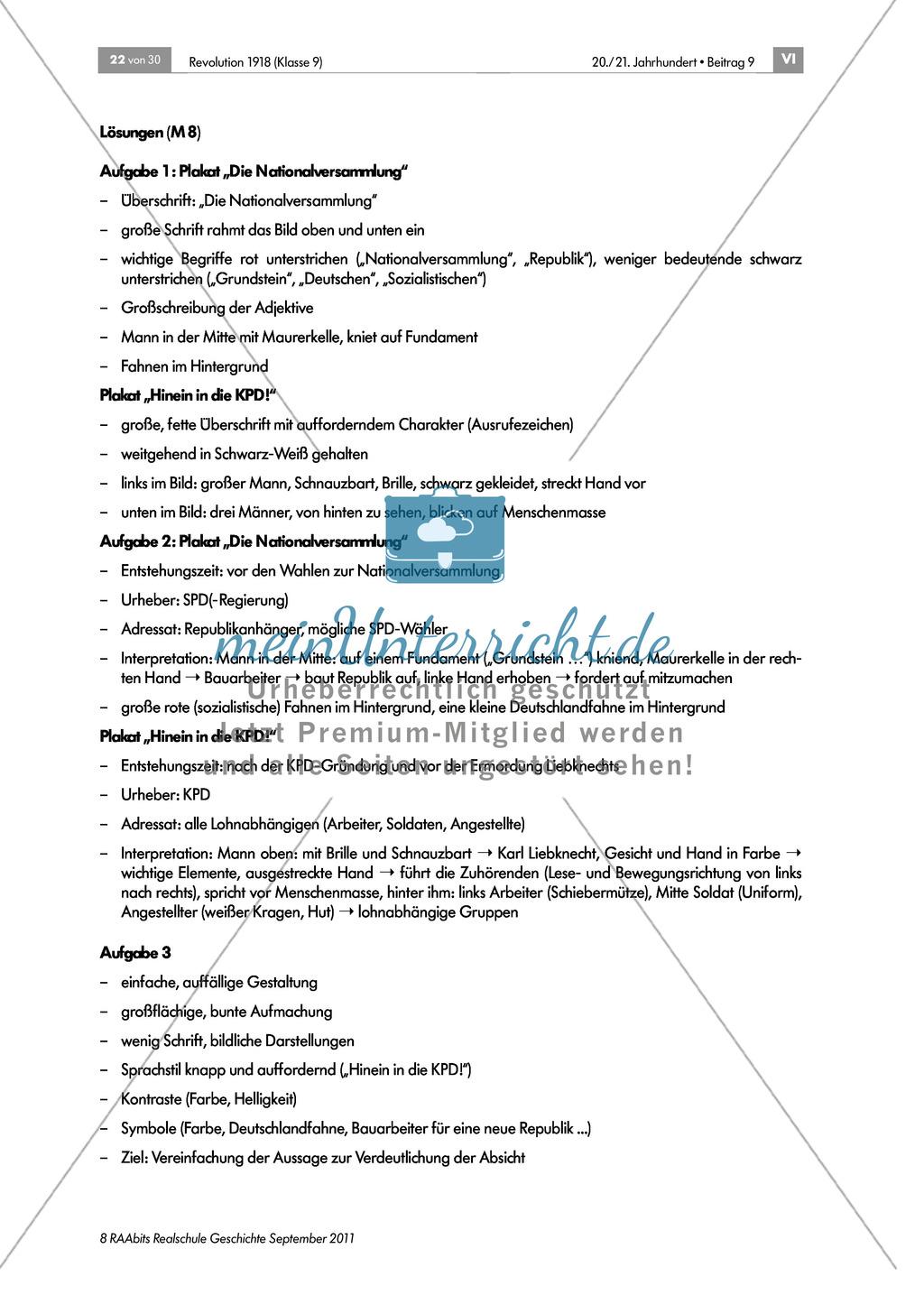 Quellen, Plakate, Flugblätter zum Spartakusbund und zur KPD in der Weimarer Republik mit Aufgaben Preview 4