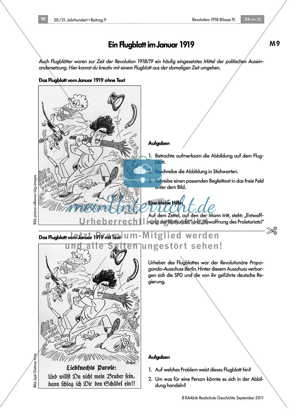 Quellen, Plakate, Flugblätter zum Spartakusbund und zur KPD in der Weimarer Republik mit Aufgaben Preview 5