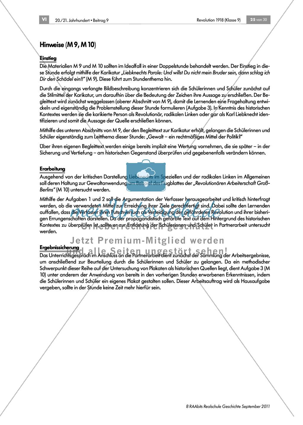 Quellen, Plakate, Flugblätter zum Spartakusbund und zur KPD in der Weimarer Republik mit Aufgaben Preview 7