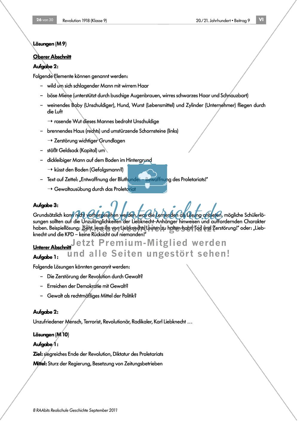 Quellen, Plakate, Flugblätter zum Spartakusbund und zur KPD in der Weimarer Republik mit Aufgaben Preview 8