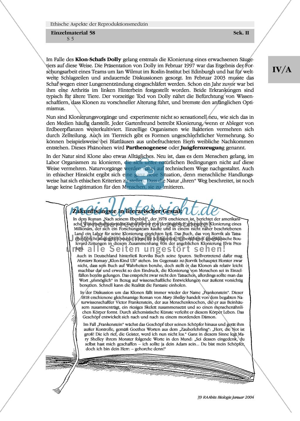 Ethische Aspekte der Reproduktionsgenetik: Pränatale Diagnostik und Genomanalyse - Prävention oder Selektion? Preview 5