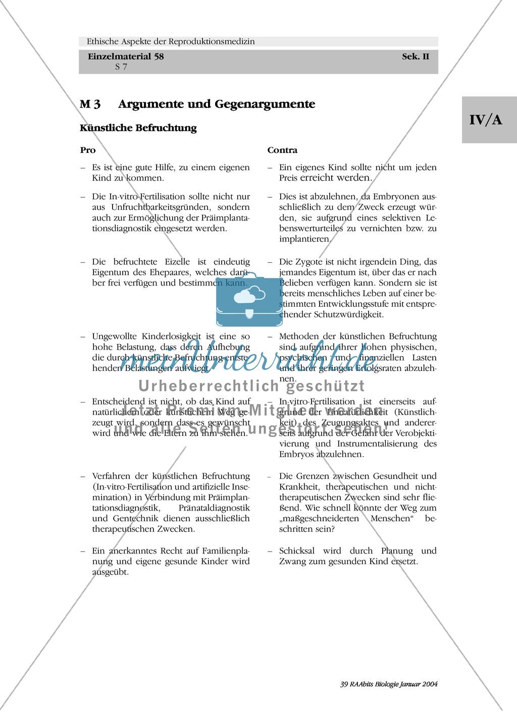 Ethische Aspekte der Reproduktionsmedizin: Pro + Contra Preview 0
