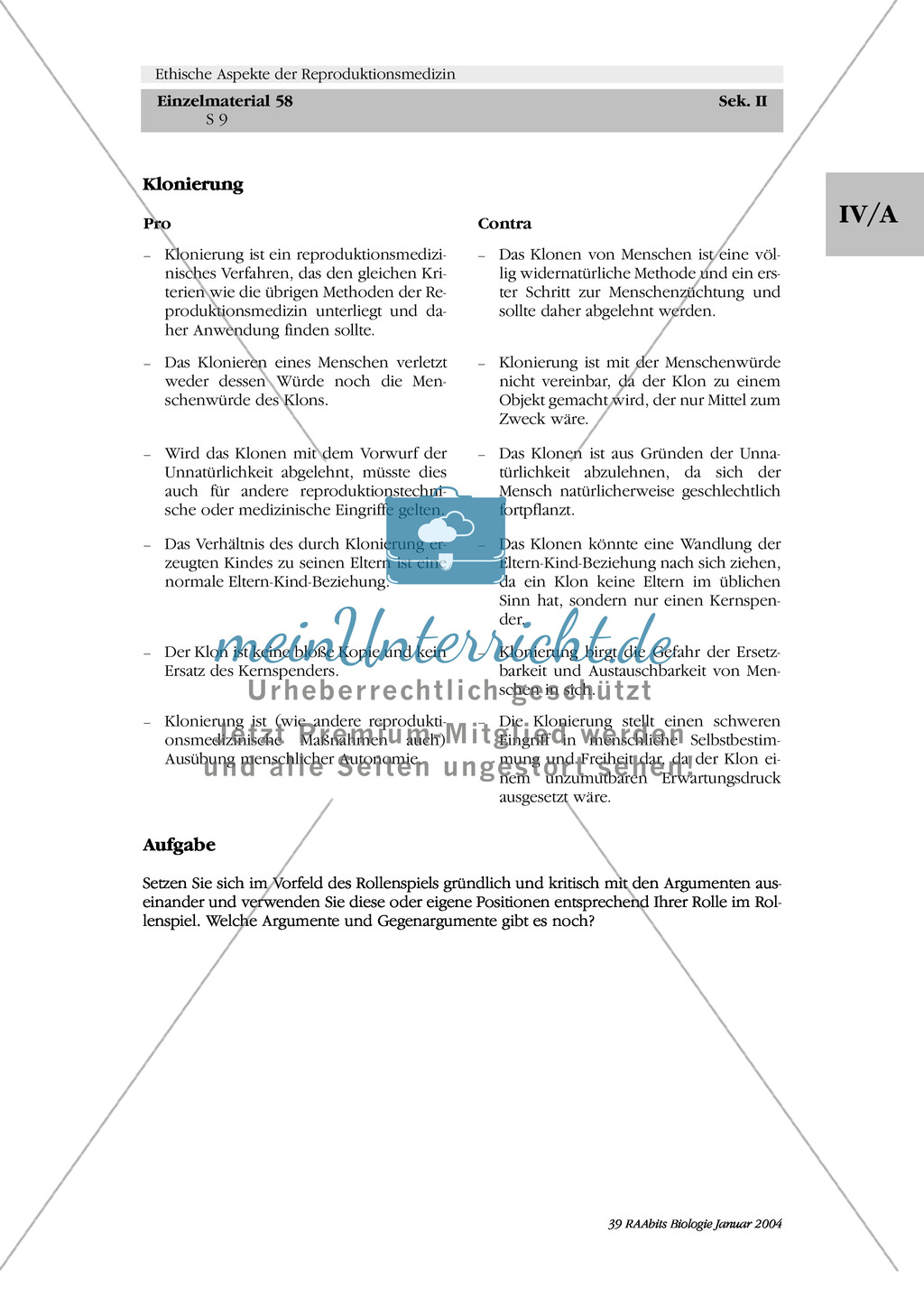 Ethische Aspekte der Reproduktionsmedizin: Pro + Contra Preview 2