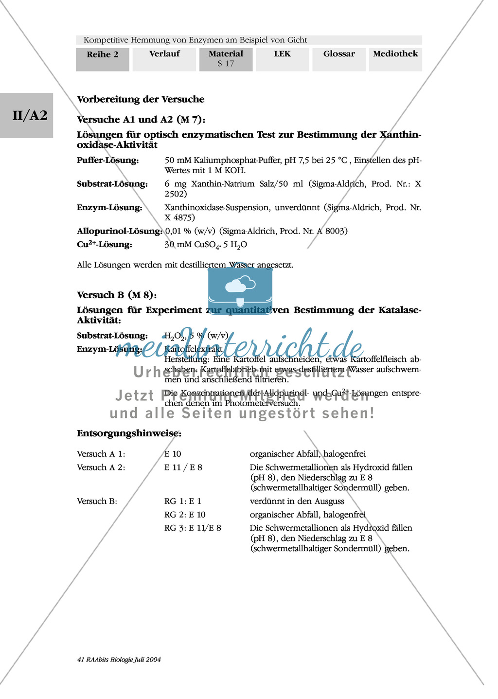 Kompetetive Hemmung von Enzymen am Beispiel der Gicht: Untersuchung von Stoffen auf ihre Eignung als Gichtmedikament anhand von Photometerversuchen Preview 8