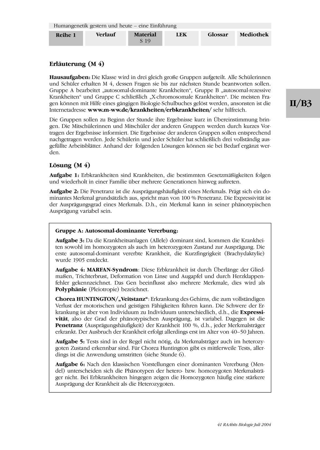 Humangenetik - Aufgaben zu Erbkrankenheiten und Erbgang Preview 4