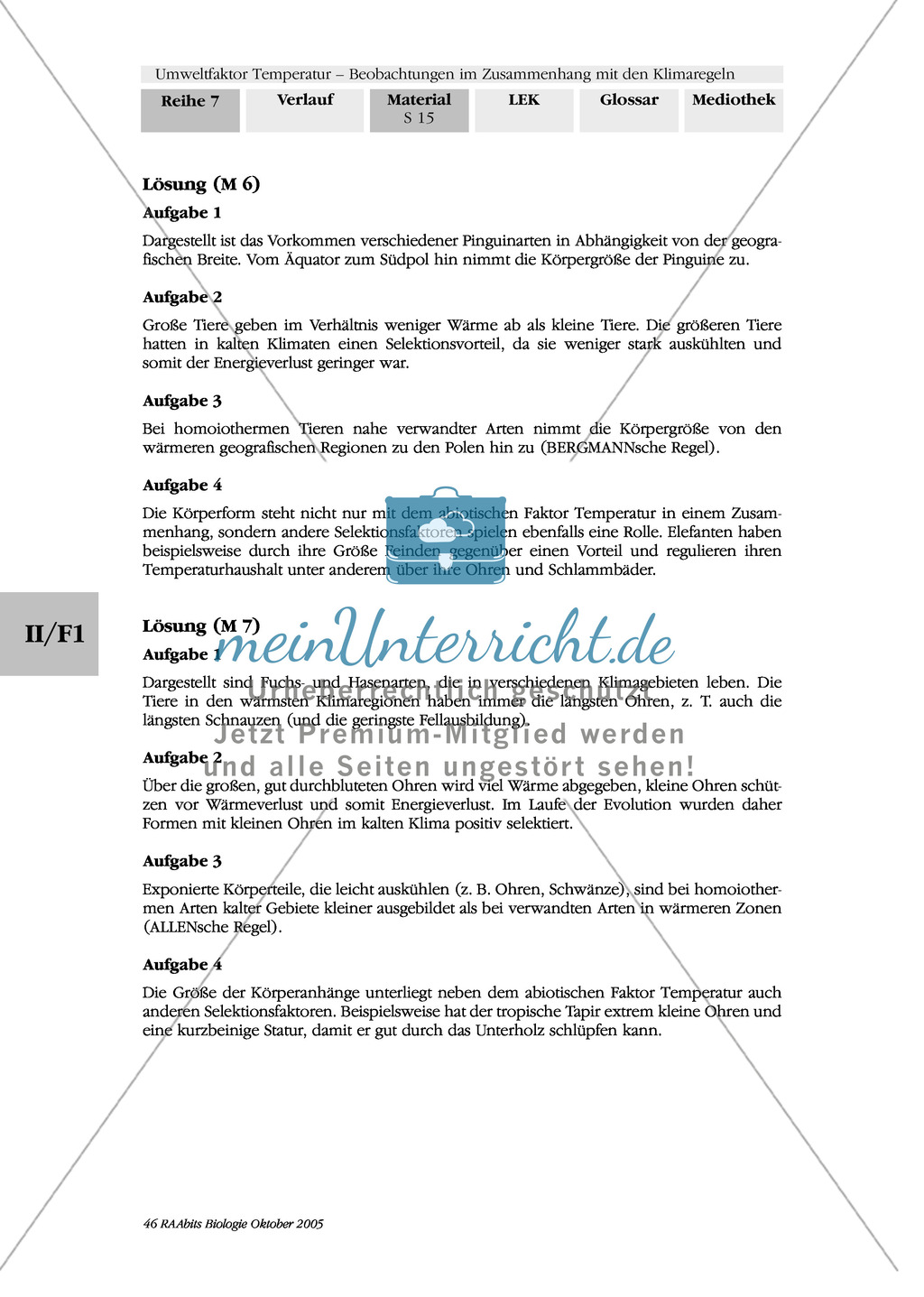 Temperatur: Allensche Regel: Fuchsarten, Hasenarten Preview 3