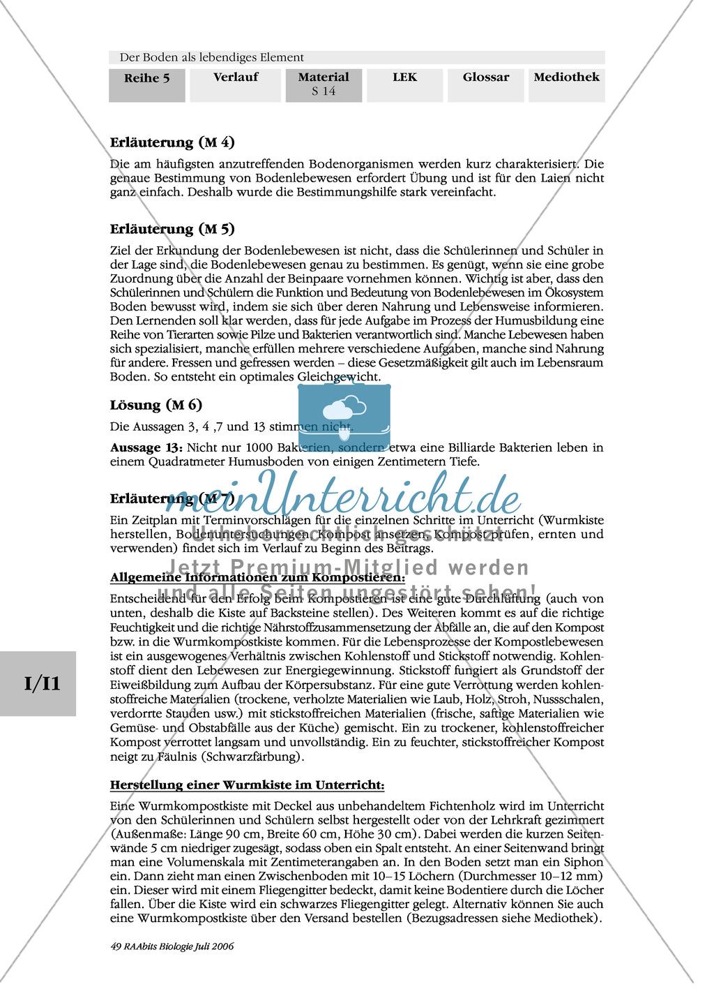 Ansetzen, Entstehung und Pflege des Komposts: Stoffkreislauf, Text Preview 4