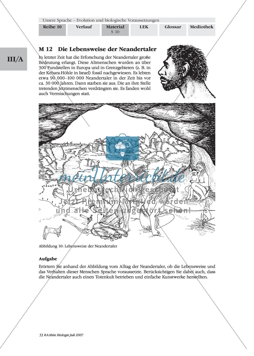 Sprachevolution: Der Ursprung unserer Sprache - Tierlautäußerungen + die Sprache des Menschen Preview 2