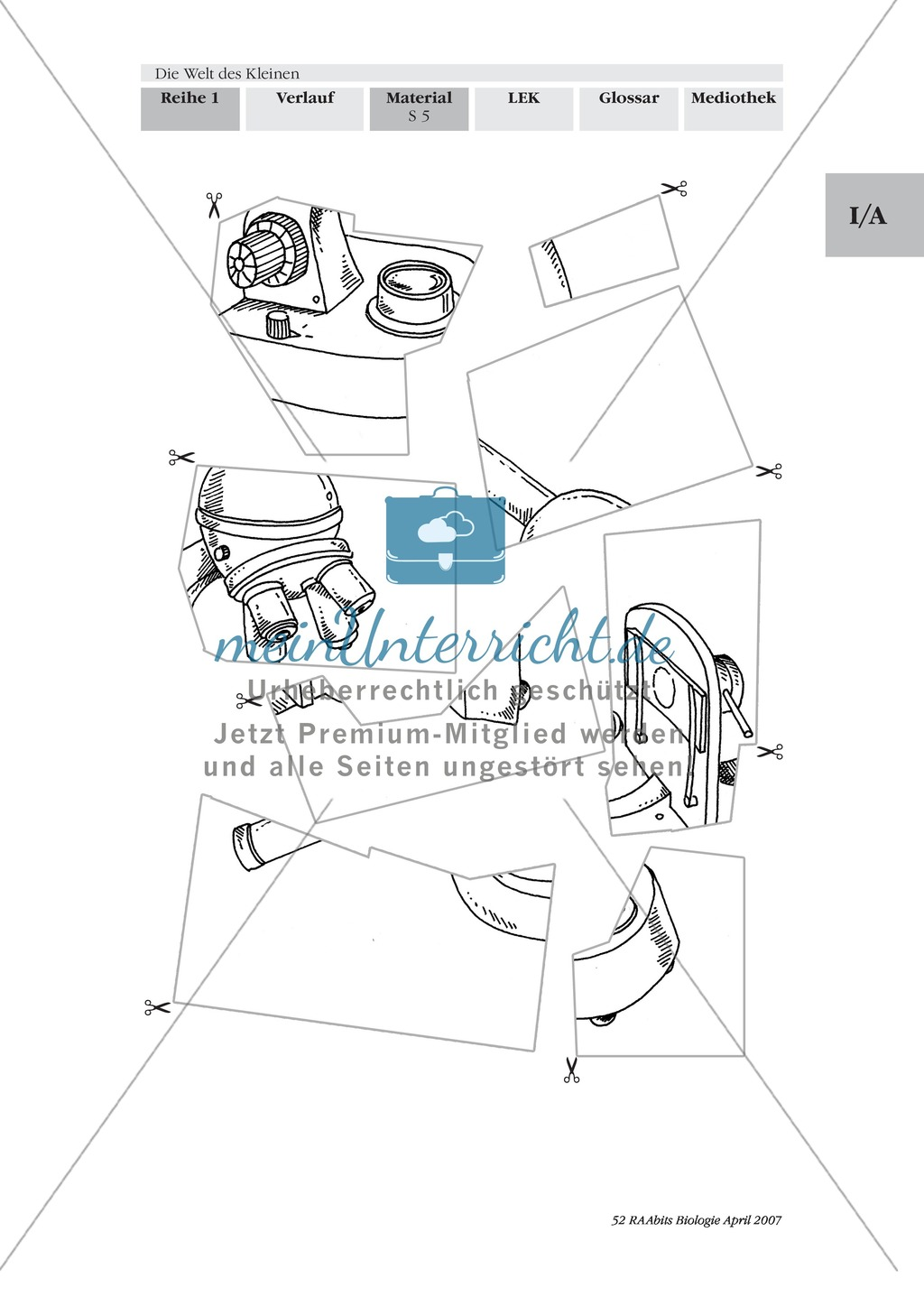 Stationenlernen Mikroskopie: Preview 3