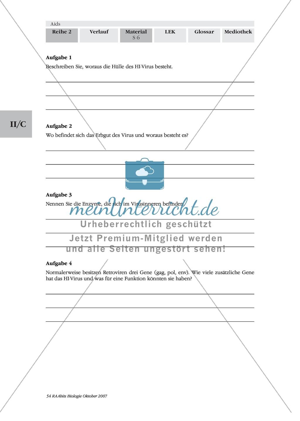 Aufbau des HI-Virus: Text Preview 1
