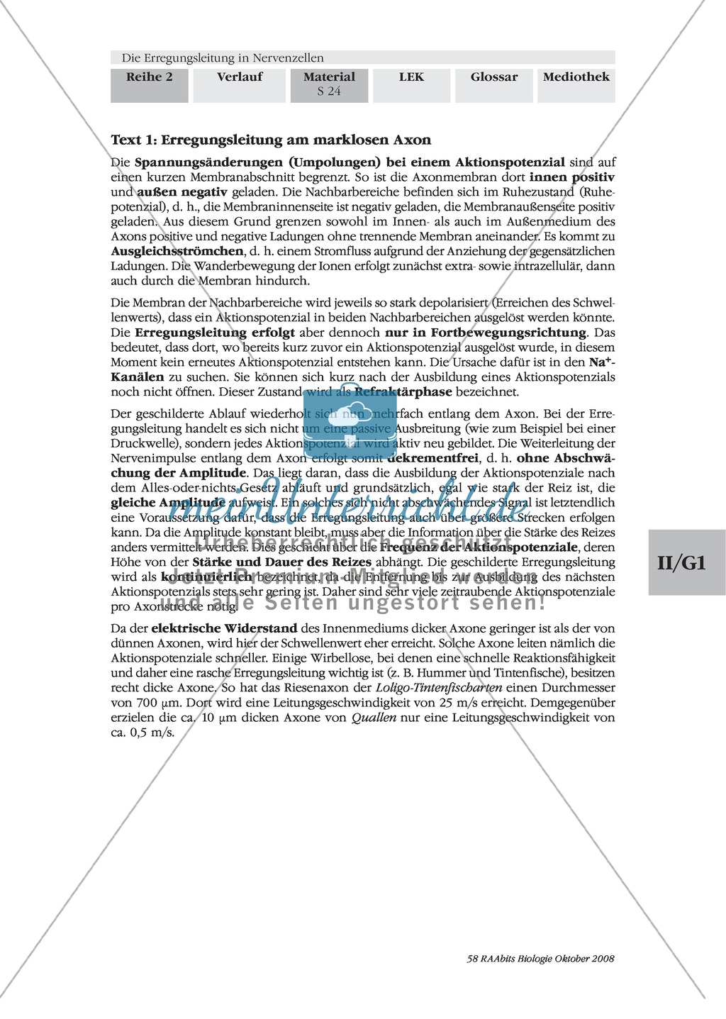 die erregungsleitung am axon selbstst ndig erkl ren. Black Bedroom Furniture Sets. Home Design Ideas