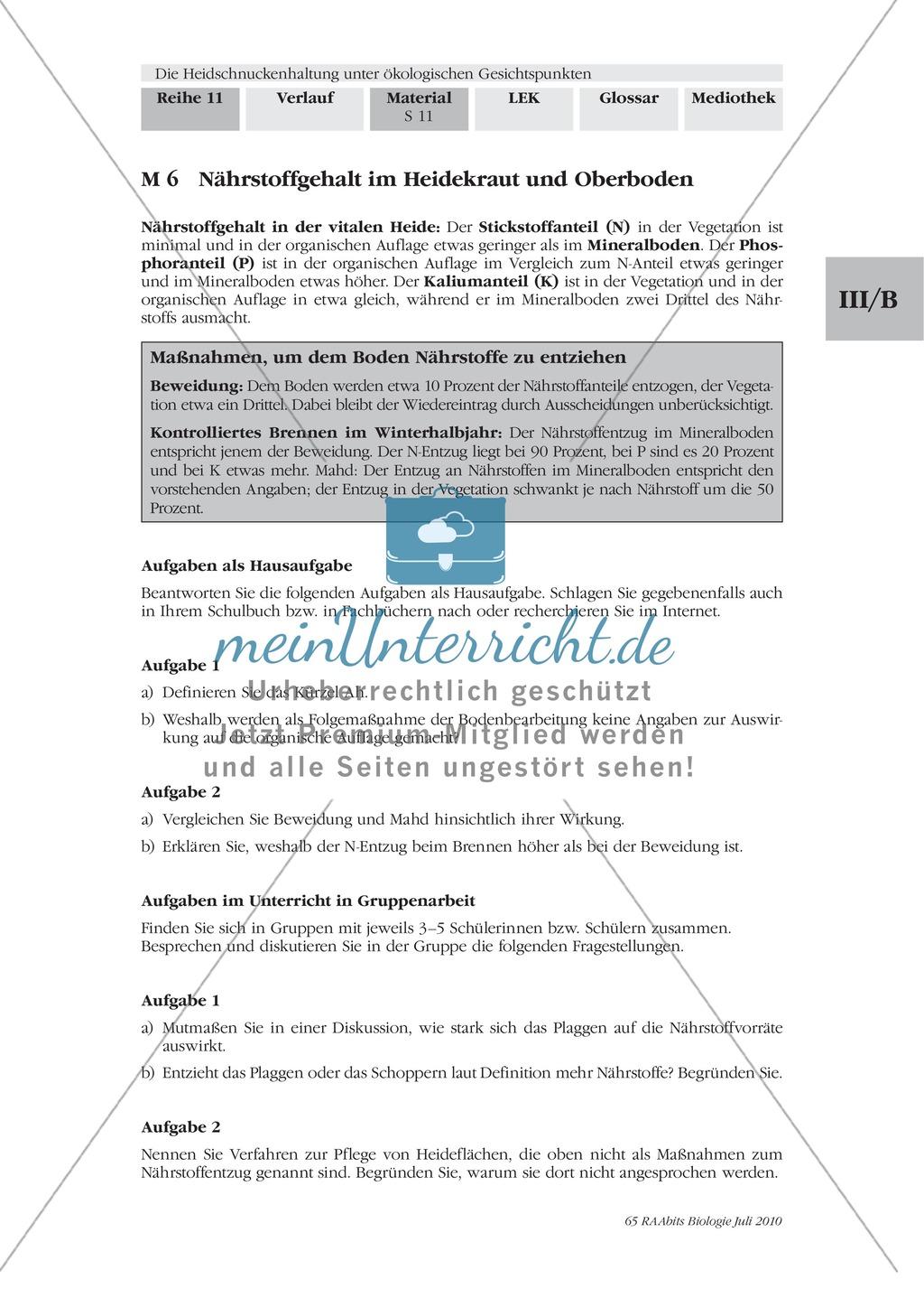 Das Ökosystem Heide und die Rolle der Heidschnucken bei der Beweidung Preview 3
