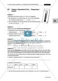 Wärmelehre - Arbeiten mit Formeln: Temperaturskalen, Wärmeausdehnung und Gasgesetz. Mit Aufgaben und Lösungen. Preview 1