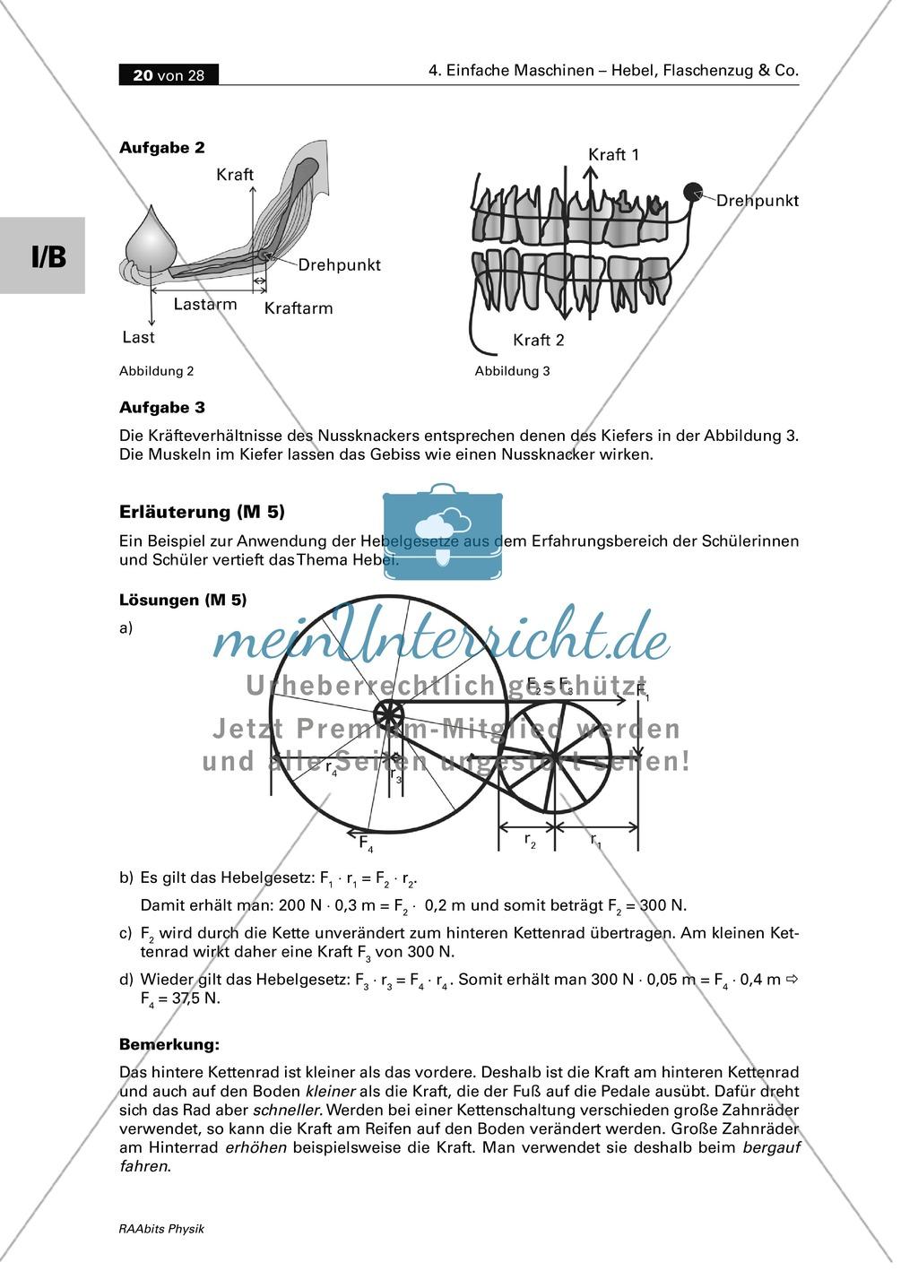 Schön Arbeitsblatt Auf Einfache Maschinen Für Klasse 5 Bilder ...