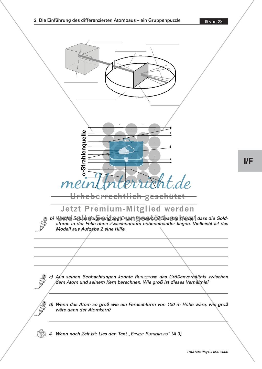 Einführung des differenzierten Atombaus: Der Kern-Hülle-Aufbau des Atoms Preview 2